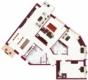 4,5-Zimmer Wohnung am Bismarck Platz - Grundriss