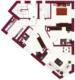 Super geschnittene 4-Zimmer Wohnung - Grundriss