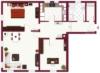 Schöne 3 Zimmer Wohnung in zentraler Lage von Bonlanden - Visualisierter Grundriss