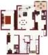 Super geschnittene 4 Zimmer Wohnung mit Terrasse - Grundriss