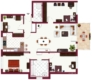 Sehr schöne 5-Zimmer Wohnung mit Balkon im Stuttgarter Norden - Grundriss