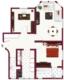 3 Zimmer Altbauwohnung mit Aufzug - Grundriss