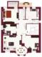 Gut aufgeteilte 4 Zimmer Wohnung in Stuttgart-Ost - Grundriss