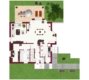 Freistehendes Einfamilienhaus mit großem Garten - Grundriss Erdgeschoss