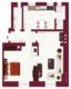Provisionsfrei - Stilvolle 2-Zimmer Wohnung in Stuttgart-Ost - Grundriss