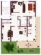 Grüne Oase - Schöne 4,5- Zimmer Wohnung mit zusätzlichem Arbeitszimmer - Grundriss